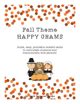 Fall Theme HAPPY GRAMS