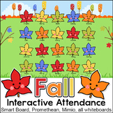 Fall Attendance with Lunch Count for Interactive Whiteboards - Fall Activities