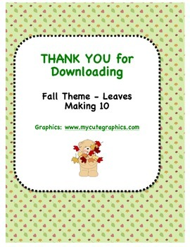 Fall Theme (Leaves) - Can You Make 10?