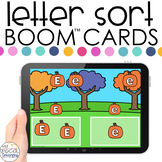 Fall Theme Letter Sort Boom™ Cards - Distance Learning for