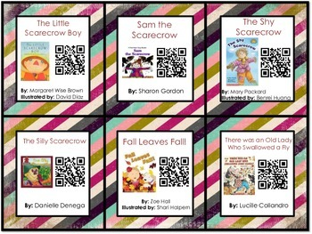 Fall Theme Listen to Reading QR Code Cards