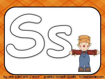 Fall Theme Literacy MEGA Pack ~ Letter Recognition, Beginning Sounds, Syllables