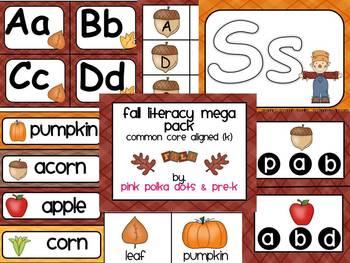Fall Theme Literacy MEGA Pack ~ Letter Recognition, Beginn
