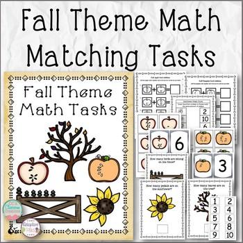 Fall Theme Math Tasks