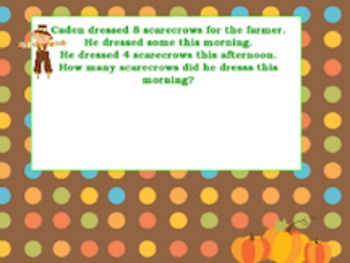 Fall Theme Math Word Problems