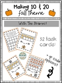 Fall Theme Missing Addends Making 10 and 20 with Ten Frames