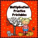 Multiplication Printables {Fall Themed}