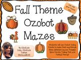 Fall Theme Ozobot Mazes