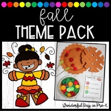 Fall Theme Pack for Preschool, Pre-K, and Kindergarten