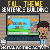 Fall Theme Parts of Speech Sentence Building Activity Digi