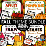 Fall Theme Preschool Lesson Plan and Fall Activities BUNDLE