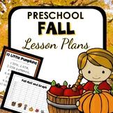 Fall Theme Preschool Lesson Plans