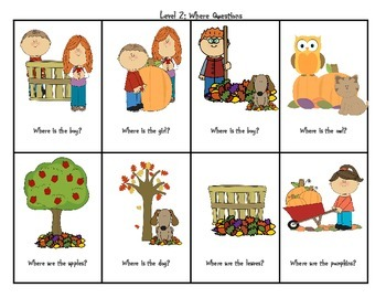 Fall Theme Preschool WH Questions by kim sutherland | TpT