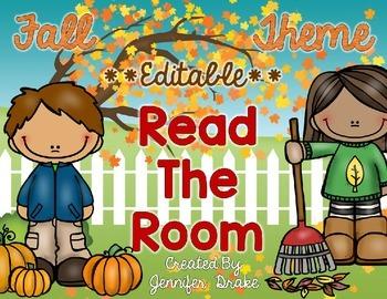Fall Theme Read the Room EDITABLE