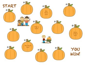 Fall Theme Reinforcer Game