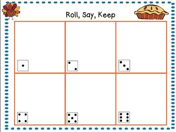 Fall Theme Roll, Say, Keep