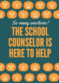 Fall Theme School Counselor Door Sign by Marie Danner | TpT