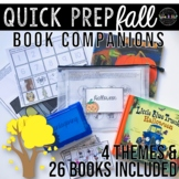 Fall Theme Speech Therapy Book Companions: Quick Prep Seas