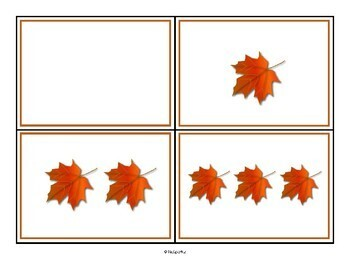 Fall Theme Subitizing Cards - Practicing Instant Recognition of Number Sets 0-10