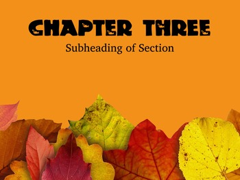 Fall Theme Powerpoint Template - editable teachers