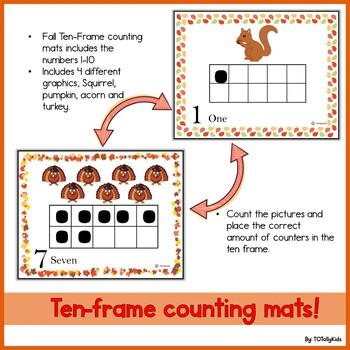 Ten Frame Counting mats- PreK, Kinder
