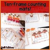 Ten Frame Counting mats- PreK, Kinder