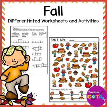 Fall Theme Unit Bundle Differentiated