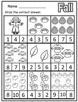 Fall Theme Unit Differentiated Activities and Worksheets