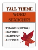 Fall Theme Word Search - Full Color