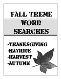Fall Theme Word Searches