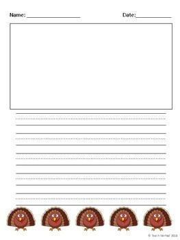 Fall Theme Writing Paper Bundle