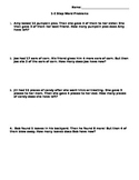 Fall Themed 1-2 Step Word Problems