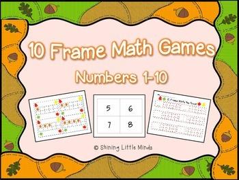 Fall Themed 10 Frame Games