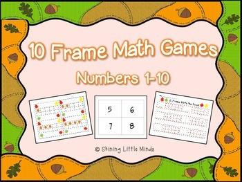 Fall Themed 10 Frame Games