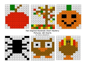 Fall Themed 120 Chart Mystery Picture