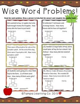 Fall- 1st Grade Math World Problems & Addition/Subtraction Common Core Aligned