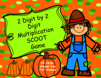 Fall Themed 2 Digit by 2 Digit Multiplication SCOOT