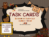 Fall Themed 3 Digit Addition Task Cards: 5 Sets - 112 Cards