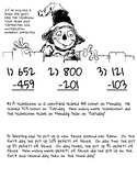 Fall Themed 3 Digit Subtraction