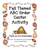Fall Themed ABC Order Center Activity