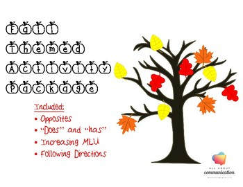 Fall Themed Activity Package