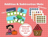 Fall Themed Addition And Subtraction Mats With Counters