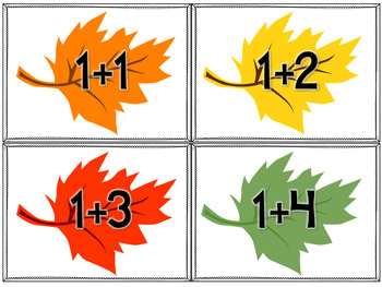 Addition to 10- Fall Math Centers