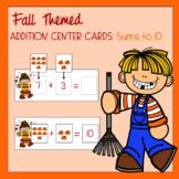 Fall Themed Addition Math Center