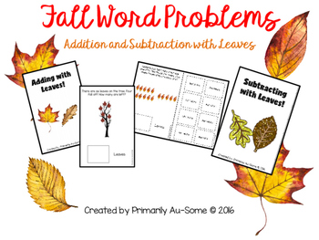 Fall Themed Addition & Subtraction Word Problems  (An Adapted Book)