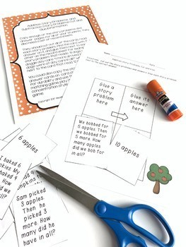 Fall Themed Addition and Subtraction Number Stories Set {Common Core Aligned}