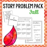 Fall Themed Addition and Subtraction Number Stories