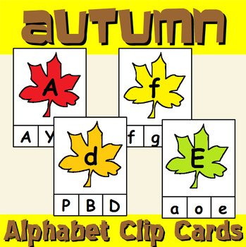 Fall Themed Alphabet Clip Cards