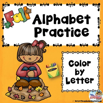 Fall Alphabet Color by Letter