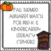 Fall Themed Alphabet Match for Pre-K and Kindergarten